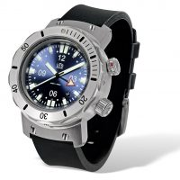 UTS 4000M GMT blue dial rubber divers strap
