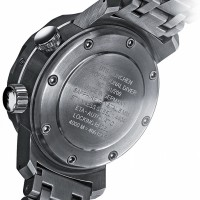 Stainless steel divers watch case back
